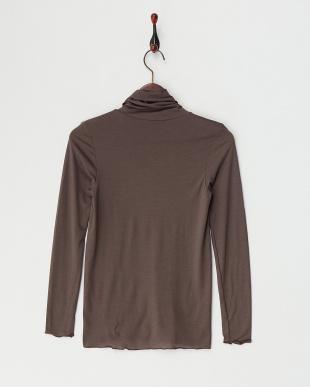 チャコールグレー  ヒートエディット 吸湿発熱 保湿機能 10分袖タートルネック見る