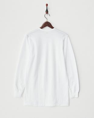 ホワイト Soft&Warm 丸首長袖Tシャツ見る