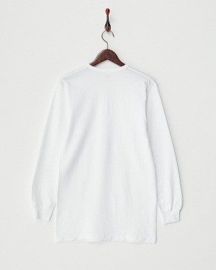 ホワイト Soft&Warm V首長袖Tシャツ見る