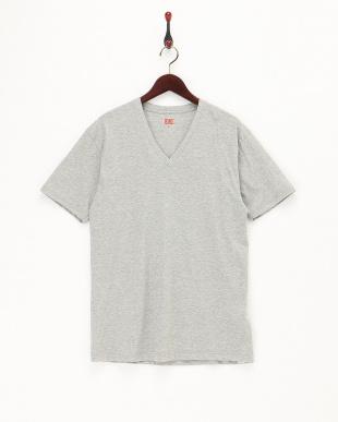 グレー  VネックTシャツ2枚組見る
