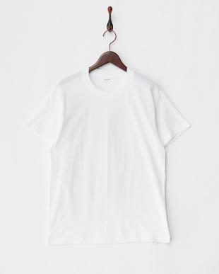 ホワイト LIVE BODY 丸首Tシャツ 3枚セット見る