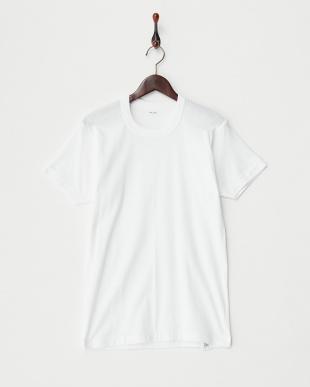 ホワイト LIVE BODY 丸首フライス半袖Tシャツ 3枚セット見る