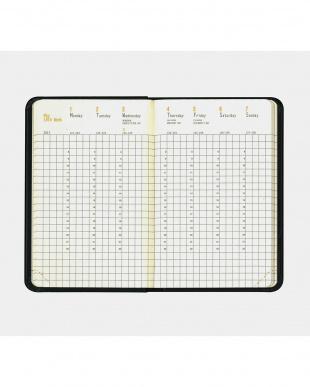 ブラック  Webplanner 2017ダイアリー 9×14cm(A6) ウィークリーバーチカル見る