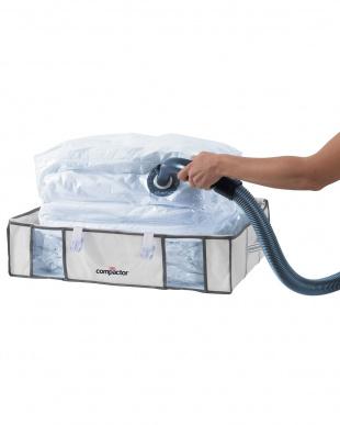 ホワイト  シングル組み布団用圧縮ボックス|Compactor見る