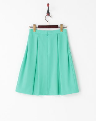 グリーン ボンボンフレアスカート見る