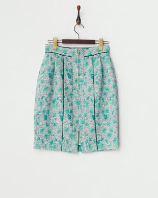 グリーン JOUET FLEURタイトスカート見る