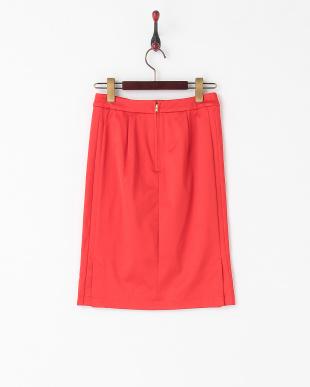 レッド ブライトツイルタイトスカート見る