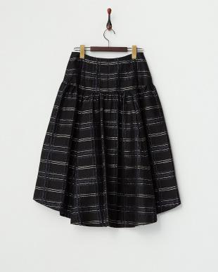 ブラック  ブリリアントチェック テイルスカート見る
