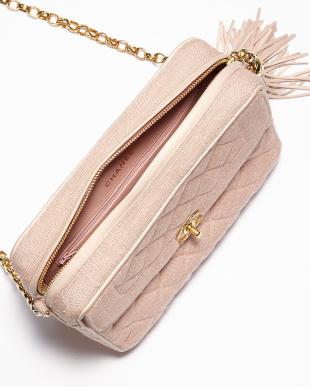 ピンク フリンジ ショルダーチェーンバッグ見る