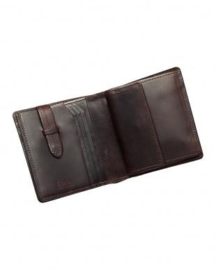 ワイン  二つ折り財布・カバロ 馬革(カギ差しポケット付)|UNISEX見る