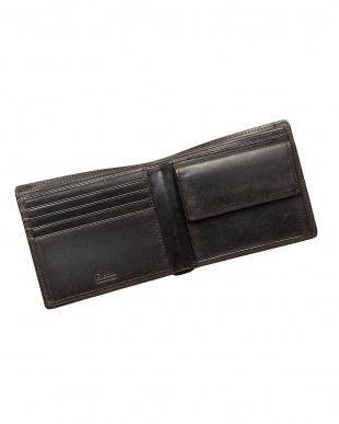 ブラック  二つ折り財布・カバロ 馬革|UNISEX見る