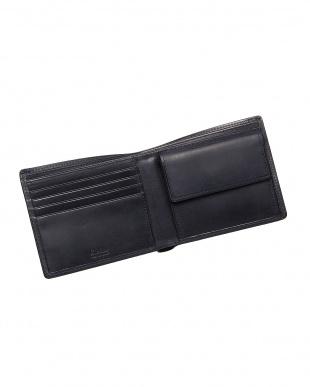 ネイビー  二つ折り財布・カバロ 馬革|UNISEX見る