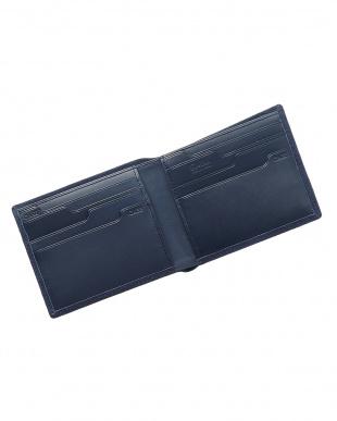 ネイビー  純札入れ・二つ折り財布 シープスエード見る