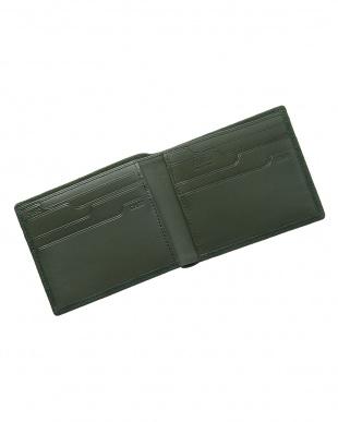 グリーン  純札入れ・二つ折り財布 シープスエード見る
