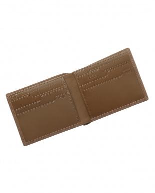 ベージュ  純札入れ・二つ折り財布 シープスエード見る
