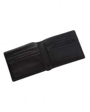 ブラック  純札入れ・二つ折り財布 ラムレザー見る