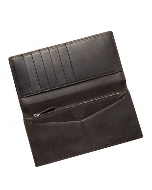 ブラック  長財布・フラップ カバロ 馬革|UNISEX見る