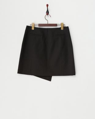 ブラック ラップデザインスカート見る