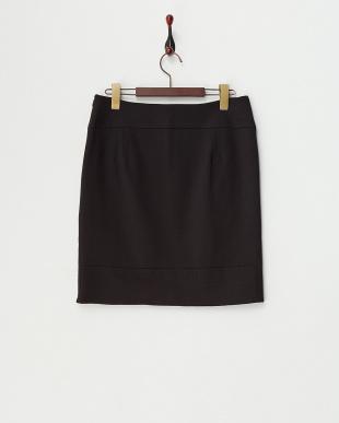 ブラック  ステッチラインタイトスカート見る