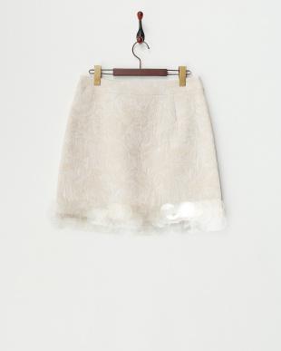 モーヴ フラワージャガードスカート見る