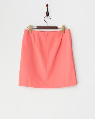 ピンク ツイルジョーゼット台形スカート見る