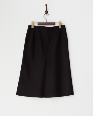ブラック ヘビーメルトンAラインスカート見る