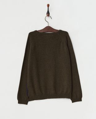 NAVY ネイビー LEON 刺繍デザインセーター見る