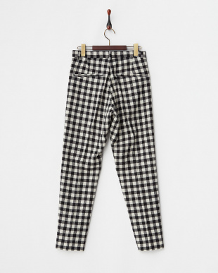 ブラック  GINGHAM CHECK PANTS見る
