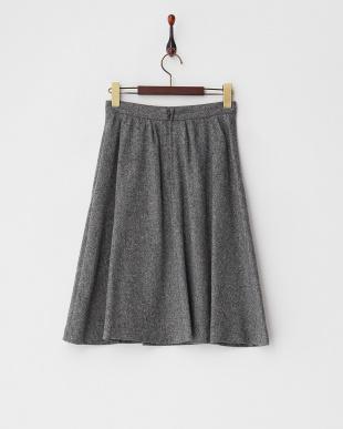 グレー ウールスカート見る