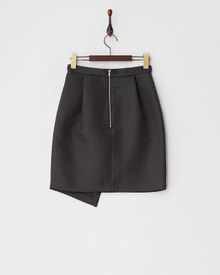 ブラック キルティングスカート見る