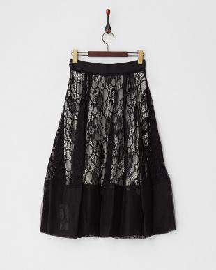 ブラック ラッセルレーススカート見る