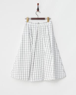 WHT×BLK  ブロードボンディングスカート見る