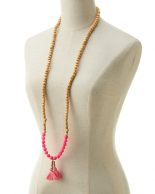 PINK MID  BIS ROSARY ネックレス見る