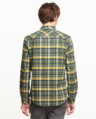 グリーン  ネルチェックシャツ見る