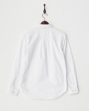 ホワイト 1  ポケット切替シャツ見る