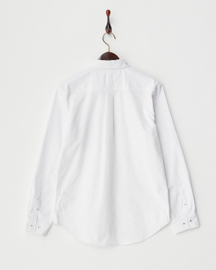 ホワイト 2  ポケット切替シャツ見る