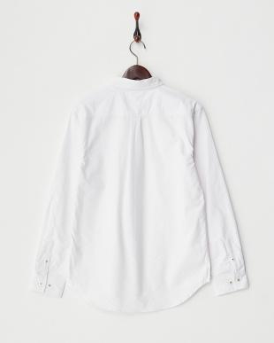 ホワイト 3  ポケット切替シャツ見る