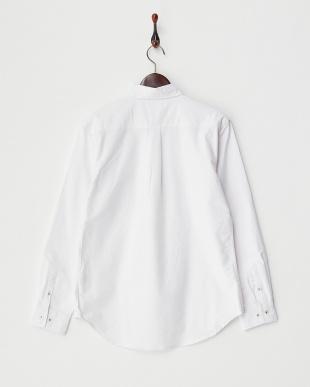 ホワイト 4  ポケット切替シャツ見る
