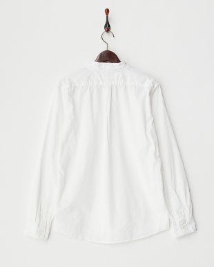 ホワイト  ブロード製品染シャツ見る