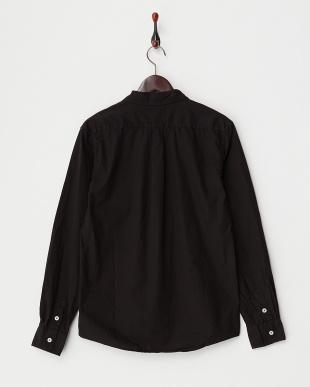 ブラック  ブロード製品染シャツ見る