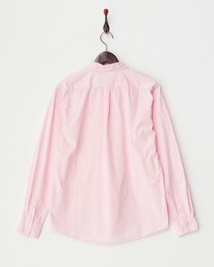 ピンク  ブロード製品染シャツ見る