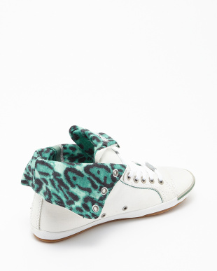 WHITE GREEN  BROOKE CANVAS SHOES見る