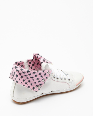 WHITE PINK  BROOKE CANVAS SHOES見る