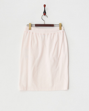 ピンク ミニ裏毛ドロストスカート見る
