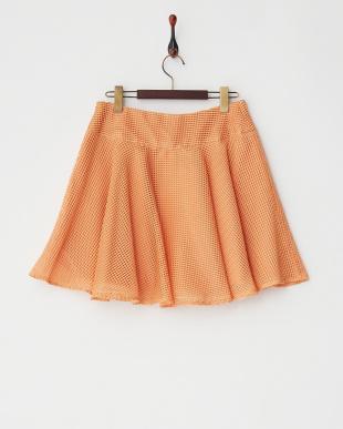 オレンジ  エアリーネットサーキュラースカート見る
