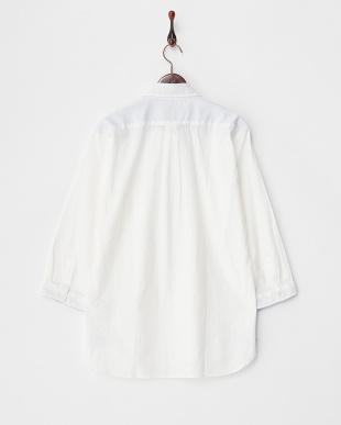 ホワイト  DOBBYクロップシャツ見る