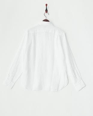 WHITE  ANX.LINEN P/O リネンプルオーバーシャツ見る