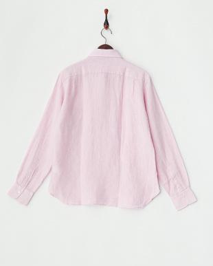 PINK  ANX.LINEN P/O リネンプルオーバーシャツ見る