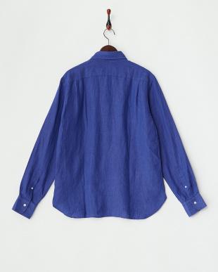 BLUE  ANX.LINEN P/O リネンプルオーバーシャツ見る