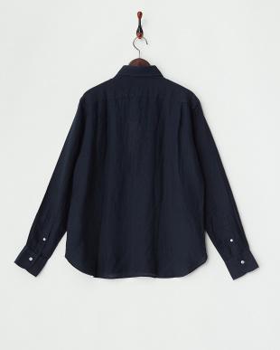 NAVY  ANX.LINEN P/O リネンプルオーバーシャツ見る